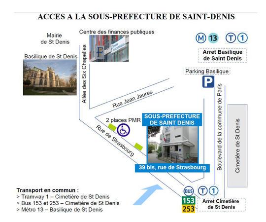 Sous pr fecture de saint denis informations pratiques - Sous prefecture le raincy bureau des etrangers ...